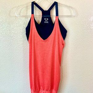 OAKLEY Sz M Racerback Tank w/Built in Sports Bra